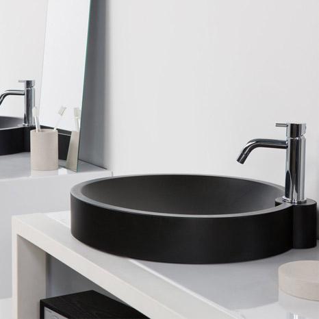 Vasque la coupole meuble sous vasque - Meuble sous vasque arrondi ...