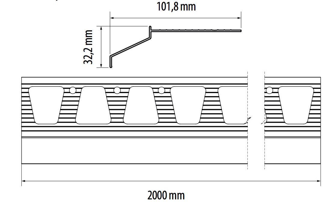 Goutte d 39 eau terrasse ou balcon alu anodise - Profile goutte d eau ...