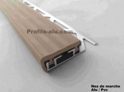 Nez de marche ALU/PVC  10,12mm