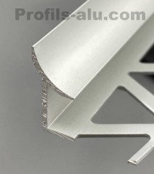 Profil joint d'angle rentrant alu anodisé