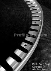 Bord droit cintrable alu anodisé 12.5, 15 ou 22,5 mm