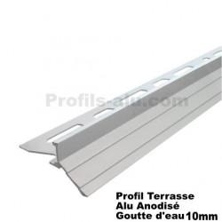 Profilé Terrasse Goutte d'eau Alu Anodisé 10 mm