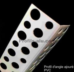Profil d'angle ajouré PVC