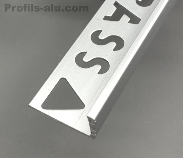 Noir A50 2 m/ètres alu anodis/é carrelage Barette de bord Profil alu Baguette carrelage 8mm