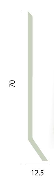 Plinthe PVC Contour (flexible) En Rouleau De 50ml   Hauteur 70mm   Déport  De 12,5 Mm