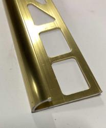 Bord arrondi Alu anodisé doré brillant 8mm
